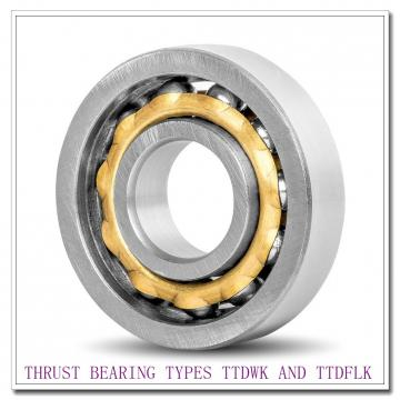 T1080FAe THRUST BEARING TYPES TTDWK AND TTDFLK